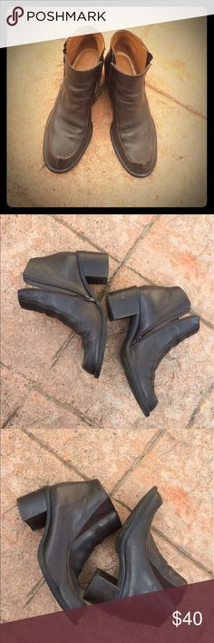 Franco Sarto heeled short boots Brown leather Franco Sarto Flex Comfort boots. 2 inch heel. A few scuff marks from normal wear otherwise great condition. Rarely worn. Franco Sarto Shoes Ankle Boots & Booties