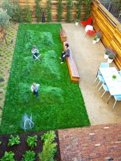 No-mow grass with play bumps! Scott's San Francisco Backyard  My Great Outdoors