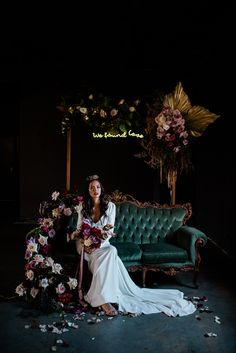 Modern day bride using moody colours and photography. moody wedding blooms, non traditional flowers. adding more to your flower budget … Edgy Wedding, Wedding Stage, Gothic Wedding, Wedding Night, Wedding Themes, Perfect Wedding, Fall Wedding, Wedding Photos, Dream Wedding