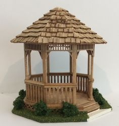 Popsicle Stick Crafts House, Craft Stick Crafts, Cardboard Crafts, Miniature Houses, Terracotta Pots, Live Plants, Bird Houses, Home Crafts, Dollhouse Miniatures