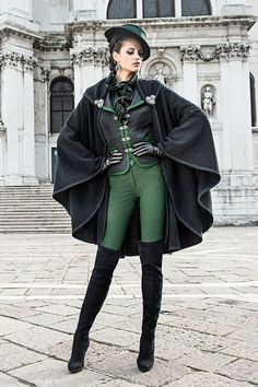 I love this look! Maybe with Red instead of green. Mothwurf Austrian Couture