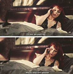 """haha Rowena ☜(⌒▽⌒)☞ #Supernatural 10x19 """"The Werther Project"""""""