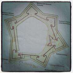 Mappa #muragrosseto #bastioni pungenti a difesa della città #invasionidigitali #liberiamolacultura