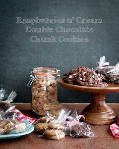 Raspberries n' Cream Double Chocolate Chunk Cookies #McCormickBakeSale
