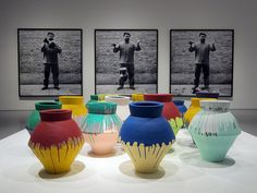 I love colors The Han Dynasty, Ai Weiwei, Colored Vases, Triptych, Urn, My Love, Colors, Artist, Decor