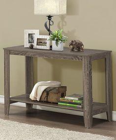 Small Solid Rustic Light Oak Hallway Console TableOak Living Furniture CB11