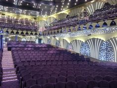 View toward the audience seats on the Starboard side, Carlo Felice Theater, MSC Poesia.