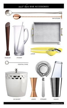 Want a better cocktail? must-have bar accessories by @Savormaker  | STYLE'N
