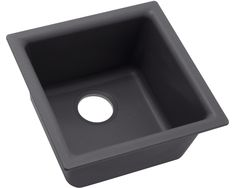 """Elkay Quartz Luxe 35-7/8"""" x 19"""" x 9"""" Single Bowl Undermount Kitchen Sink with Perfect Drain Quartz Sink, His And Hers Sinks, How To Wash Vegetables, Composite Sinks, Double Bowl Sink, Home Furnishing Stores, Glass Sink, Floor Drains, Black Appliances"""
