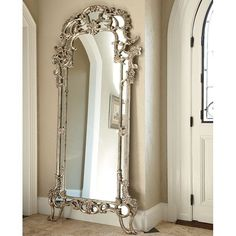 Jessica McClintock The Boutique Decorative Floor Mirror (Silver Veil) American Drew House Interior Decor, Decor, Foyer Decorating, Elegant Homes, Floor Mirror, Floor Decor, Mirror, Silver Mirrors, Elegant Home Decor