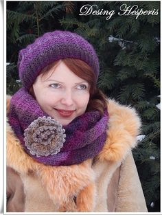 Scarves and hats knitting. Winter hat and scarf made of 100% wool. Women's hat and scarf. Gift. Warm scarf and hat. Knitted accessories.