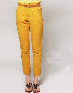Штаны модные желтые в интернет-магазине VirginMG Club
