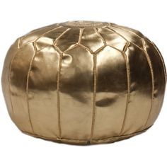 Martil Faux Leather Ottoman in Gold design by NuLoom ($275) ❤ liked on Polyvore featuring home, furniture, ottomans, ottoman, decor, gold, faux leather footstool, pleather furniture, gold furniture and patterned ottoman