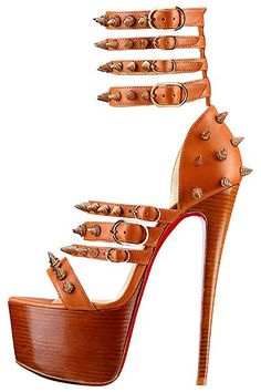 Christian Louboutin-2013 Spring-Summer Something about these appeals to me, but I don't think they are made to walk in, if you know what I mean...