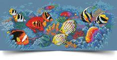 Straight Stitch, Back Stitch, Pdf Patterns, Cross Stitch Patterns, Cross Stitch Rose, Tropical Fish, Retro, Handmade Gifts, Remedies
