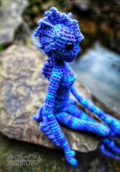 Crochet Fairy, Crochet Dragon, Crochet Dolls, Easy Crochet, Knit Crochet, Doll Patterns, Crochet Patterns, Crochet Monsters, Doll Tutorial