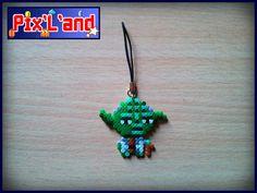 Yoda - Star Wars charm hama mini beads by Pix-l-and
