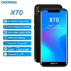 Doogee X70 5.5 inch 19:9 Android 8.1 3G 2GB/16GB Face Unlock Fingerprint ID 8.0MP  Price: $89 & FREE Worldwide Shipping  #gadgets #gadgetsale #newtech #gadgethawk #freeworldwideshipping #thegadgethawk #toptech #electronics #onlinegadgets #ecommercetech
