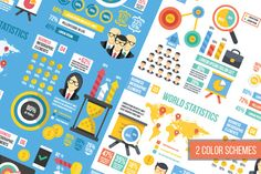 Infographics Elements Sets. 12 in 1. by Magurok on @creativemarket