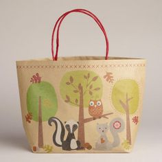 Aaaaah!  I have to have this bag!!!  Squirrels and Red Owl Bag