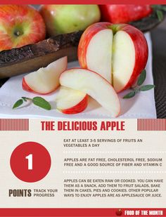 One of my favorite foods Apples! I've also included some of my favorite recipes on this board. Apple Facts, My Favorite Food, Favorite Recipes, Apple Unit, Good Source Of Fiber, Eating Raw, Plant Based Recipes, Vitamin C, Cholesterol
