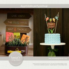 Gone Fishing Printable Birthday Party by taniasdesignstudio