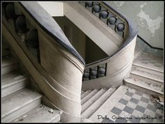 Abandoned orphanage, Italy......cool  staircase  structure.............