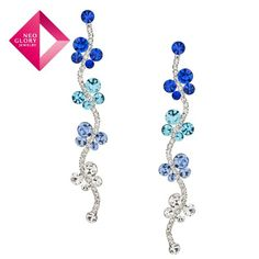 Aliexpress.com : Buy Neoglory Jewelry 2012 fashion jewelry whole rhinestone butterfly and flowers drop earrings christmas gift free shipping from Reliable earrings suppliers on NEOGLORY JEWELRY