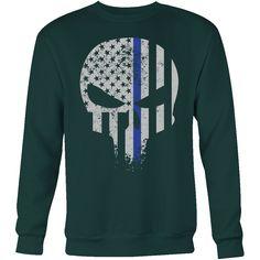 Threadrock Honor & Respect Skullcap Sweatshirt T Shirt - TL00638SW