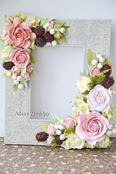 Best 25 of yulia naydun vk – BuzzTMZ Clay Crafts, Diy And Crafts, Paper Crafts, Fabric Flowers, Paper Flowers, Picture Frame Crafts, Polymer Clay Flowers, Handmade Frames, Diy Frame