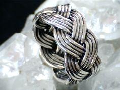 Sterling Silver Turks Head Knot Ring. $55.00, via Etsy.