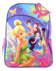 Disney Fairies Tinkerbell 16″ Large Backpack « Clothing Impulse