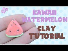 Kawaii Watermelon   Polymer Clay Tutorial - YouTube
