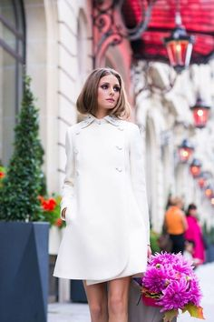 Model Olivia Palermo Street Style In Paris Olivia Palermo Street Style, Estilo Olivia Palermo, Looks Street Style, Looks Style, Style Work, Mein Style, Looks Chic, Glamour, Mode Inspiration