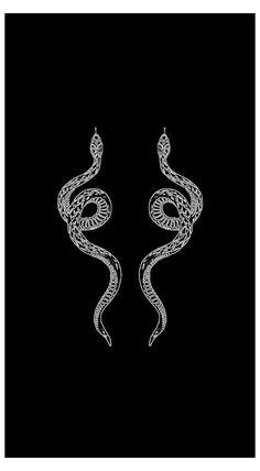 Black Aesthetic Wallpaper, Aesthetic Iphone Wallpaper, Aesthetic Wallpapers, Snake Wallpaper, Dark Wallpaper, Dragon Wallpaper Iphone, Mini Tattoos, Small Tattoos, Snake Drawing