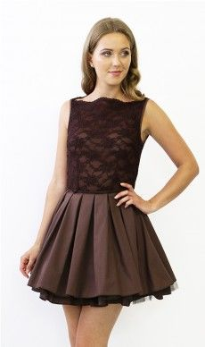 Jones and Jones Audrey Chocolate Dress