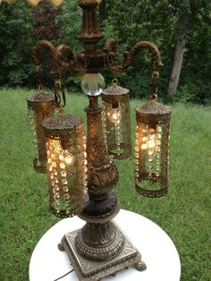 Dramatic Antique Moroccan Gothic Medieval Lamp by homevestures, $195.00