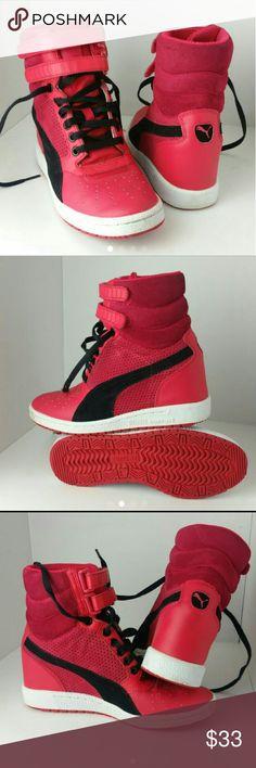 PUMA CONTACT WEDGE HEELS WOMEN SHOES LIKE NEW   SKE # DM puma  Shoes Athletic Shoes