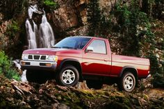 """Nissan's D21 pickup launched halfway through the '86 model year and brought groundbreaking design to the compact truck market. The new pickup was nicknamed the Nissan """"Hardbody"""" for obvious reasons—it looked better than just about any other truck at that time. That's especially true of the Sports package-equipped 4X4 models that wore 31-inch tires, fender flares, and brush and light bars. Both the 4-cylinder and V-6 models have proven reliable over the years and many are still in service glo... Nissan Pickup Truck, Nissan 4x4, Nissan Trucks, Nissan Xterra, Nissan Hardbody 4x4, Pick Up Nissan, Compact Pickup Trucks, Datsun Car, Cool Trucks"""