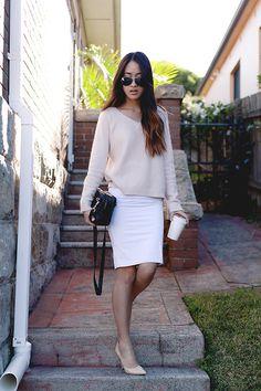 Wish Sweater, Kookai Dress, Wittner Heels