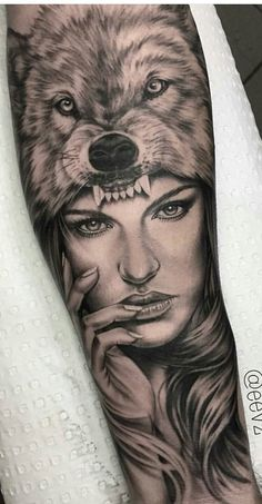 Tattoos Ideas For Guys Tattoos 3d, Native Tattoos, Mini Tattoos, Forearm Tattoos, Tattoo Drawings, Small Tattoos, Sleeve Tattoos, Wolf Girl Tattoos, Indian Girl Tattoos