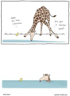 Awkward Everyday Lives Of Animals By Simpsons Illustrator Liz Climo | Bored Panda