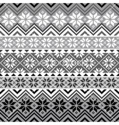Nordic snowflake pattern vector on VectorStock