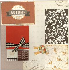 2 page Scrapbooking Layout Kit  Autumn Memories by CropALatteToGo #scrapbooking