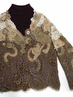 Crochet Clothes - Crochet Jacket Patterns - Free-Form Jacket...free pattern