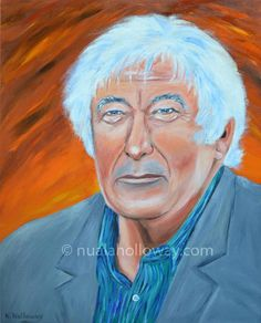 """Portrait of Seamus Heaney"" by Nuala Holloway - Oil on Canvas #SeamusHeaney #Portraiture #IrishArt"