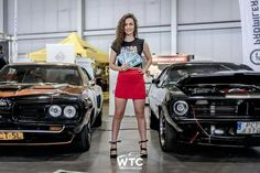 American Cars Mania and Poznań Motor Show 2018 by Watch Tischnera Car. Beautiful girl holding dolars. #muscle #car #girl #pretty #ACM #WTC