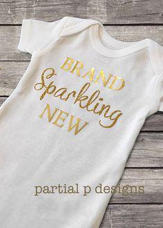 Brand Sparkling New bodysuit onesie, going home outfit, hospital, newborn baby girl baby shower gift