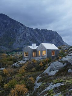 My kind of house ... Breathtaking project by Stockholm-based duo Kolman Boye Architects. A house on the island of Vega in the Norwegian archipelago not far from the polar circle.