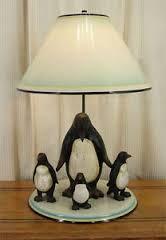 Cute penguin lamp